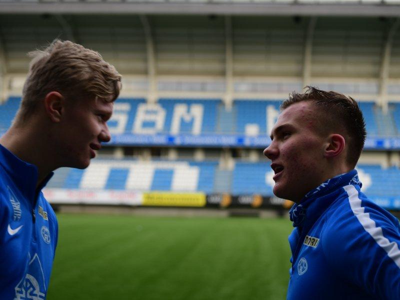 Erling Braut Haaland og Leo Skiri Østigård er klar for å ta i mot Monaco