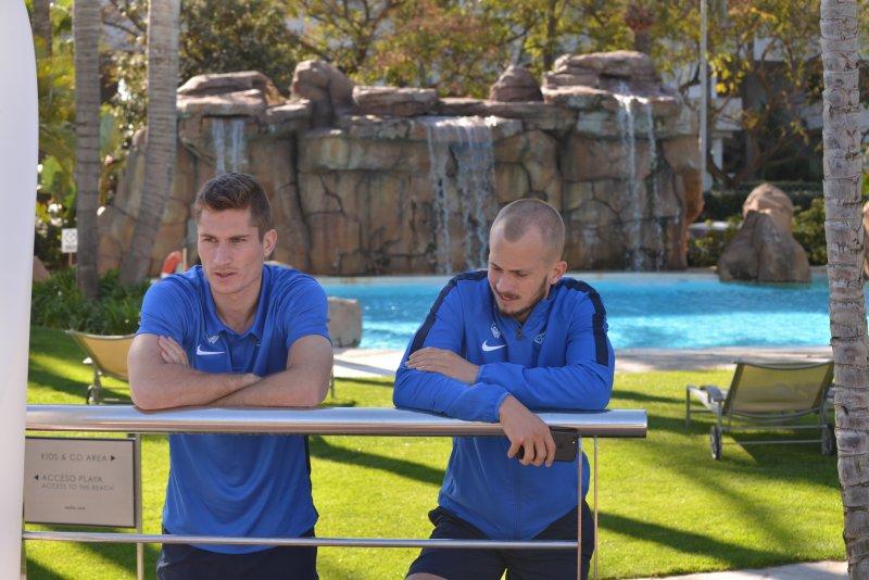 Haugen og Hestad i hyggelig passiar på Marbella
