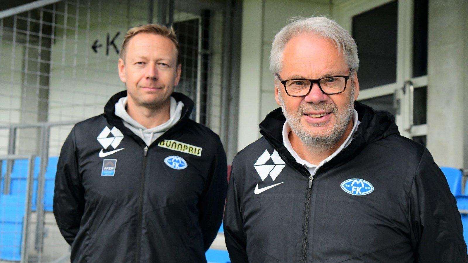 På bilde: Daglig leder Akerakademiet Thomas Mork og Jarl Torske