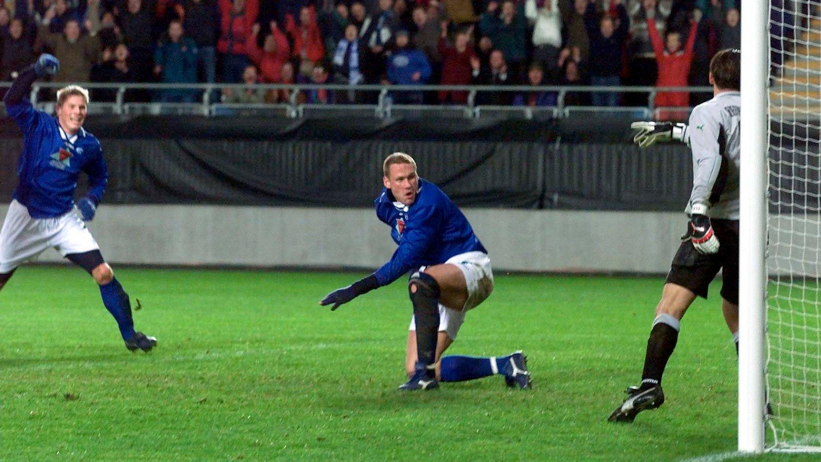 Champions League Molde-Olympiakos.Fotballspiller Andreas Lund. Spiss i Molde Fotball klubb.  Foto: Aftenposten