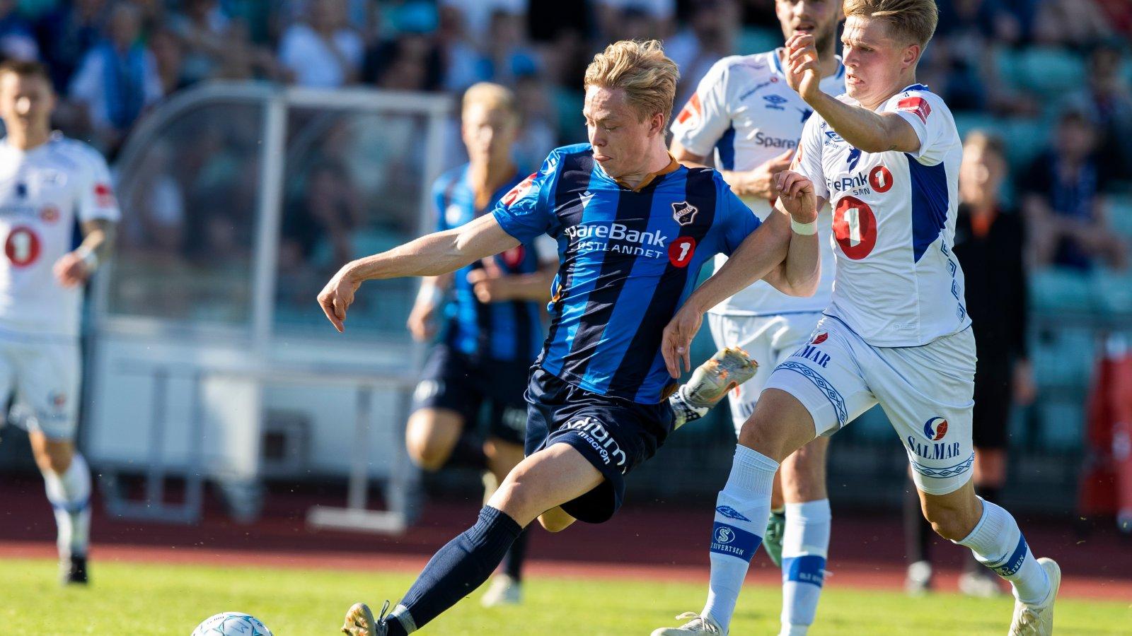 Eliteserien fotball 2019: Stabæk - Ranheim TF. Stabæks Ola Brynhildsen under  kampen mellom Stabæk og Ranheim TF på Nadderud Stadion.Foto: Berit Roald / NTB scanpix