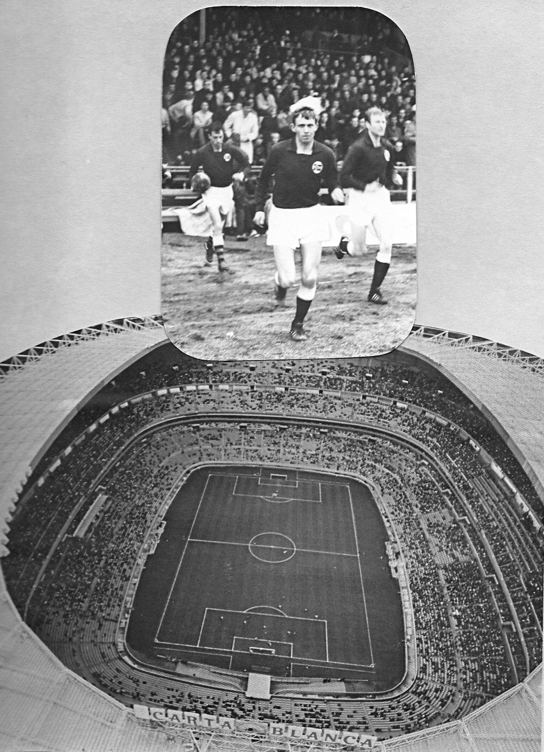 Harry Hestad på landslaget mot Mexico høsten 1969