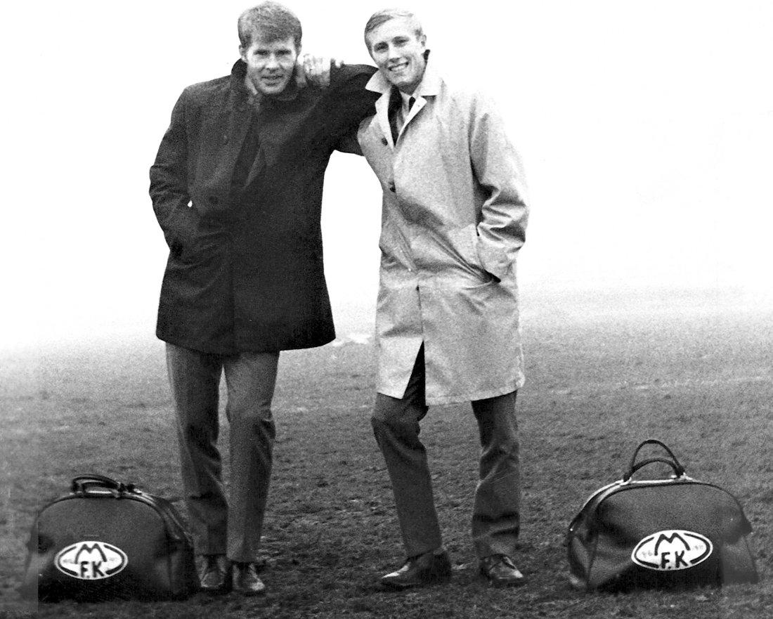 Otto Trønningsdal og Knut Bjørnå etter kvaliktap mot Steinskjer i 1969