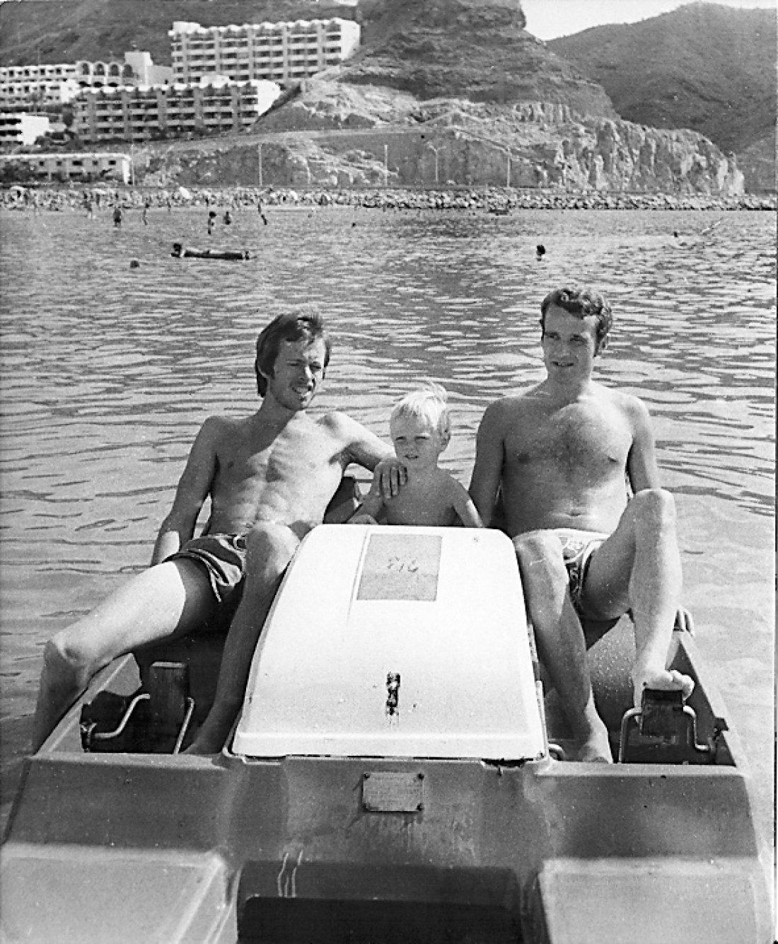 Stein Olav Hestad og Bjørner Oshaug slapper av på Gran Canaria
