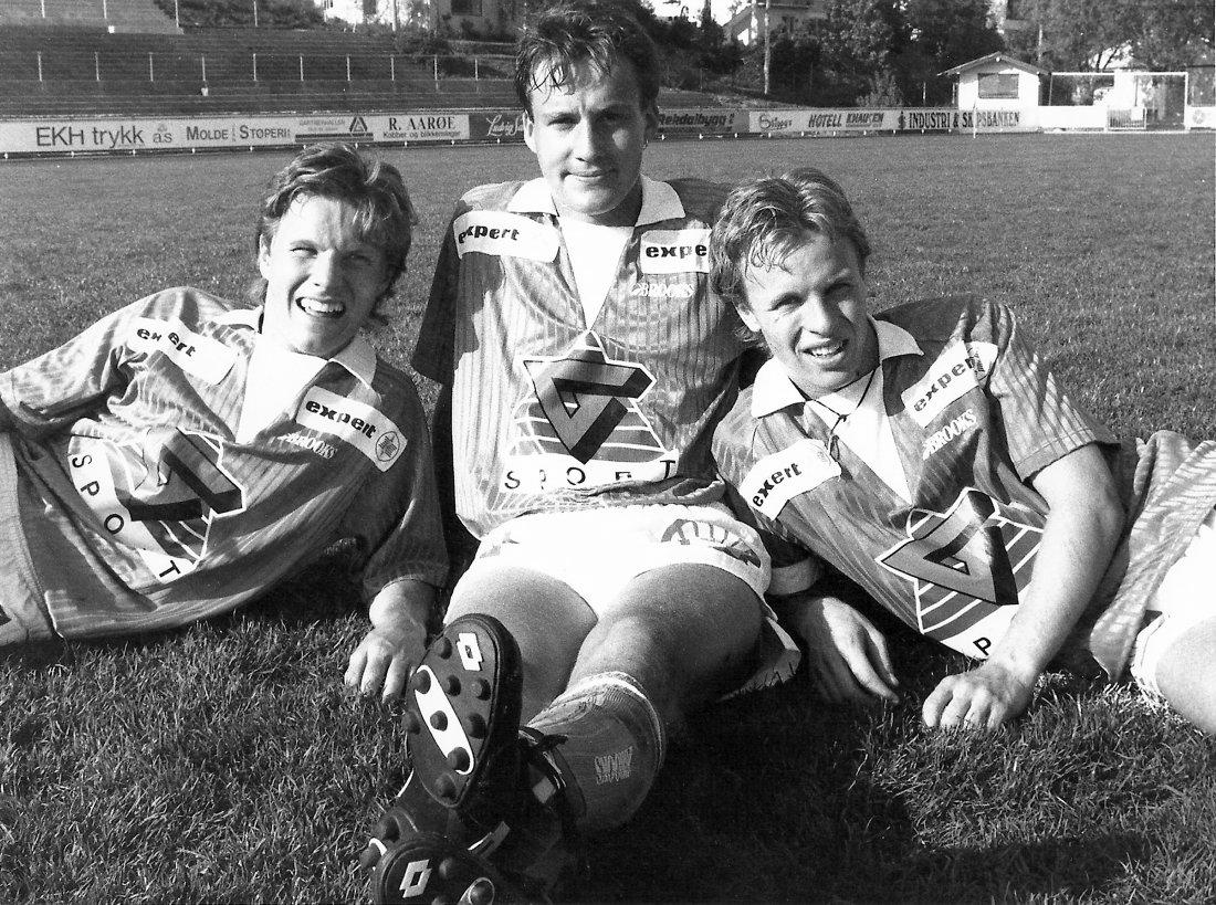 Gode juniorer. Daniel Berg Hestad, Robert Holmen og Tarje Nordstrand Jacobsen.